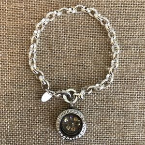 Origami Owl Silver Bracelet